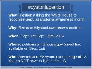 Make September Dystonia Awareness Month
