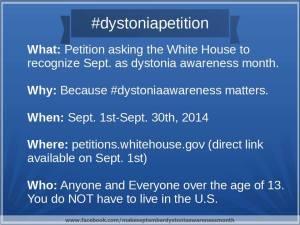 Make September Dystonia Awareness Month