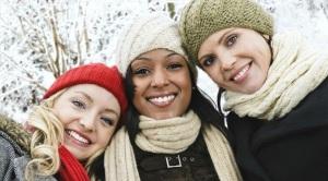 Girlfriends in Winter
