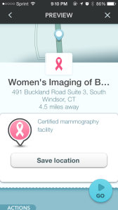 Breast Screening Location in CT