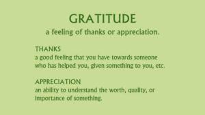 Defining Gratitude