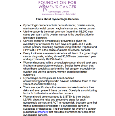 What Every Women Should Know About Women's Cancer