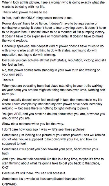 Elizabeth Gilbert on Living Your Truth