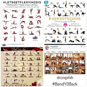 Yoga Challenges on Instagram