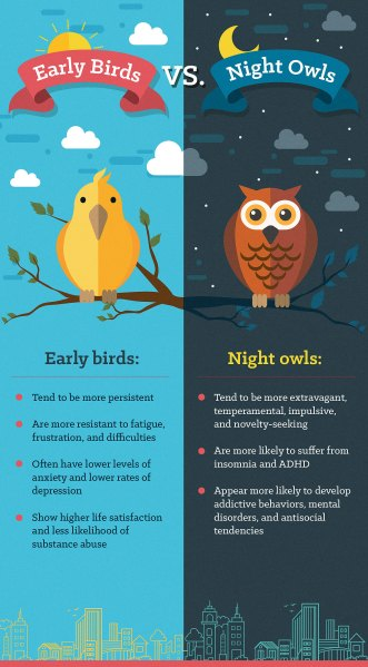 Early Birds Vs. Night Owls
